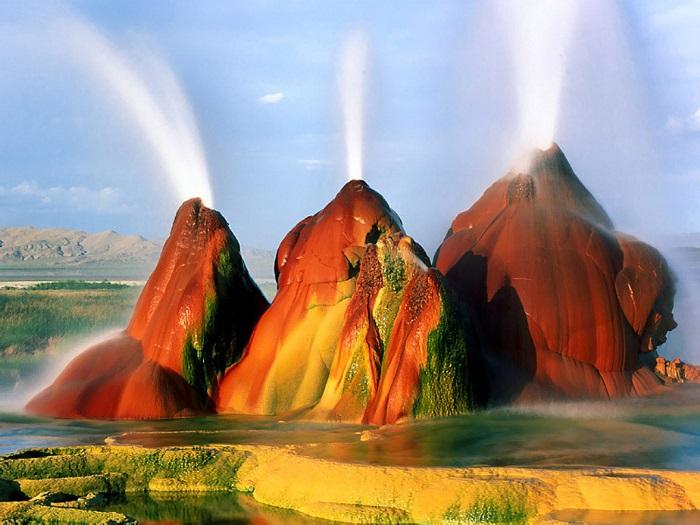 Fly Geyser, Nevada, Amerika Serikat