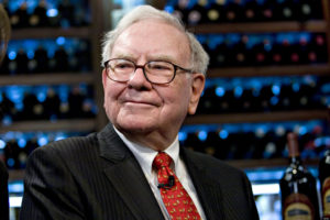 Warren Buffett, chief executive officer of Berkshire Hathaway, pauses during a television interview in advance of a charity lunch with a group led by Courtenay Wolfe, chief executive officer of Salida Capital, at Smith & Wollensky in New York, U.S., on Monday, Feb. 22, 2010. Buffett, a billionaire who pledged the bulk of his fortune to philanthropy, said the need for charitable giving is unending. Photographer: Daniel Acker/Bloomberg via Getty Images