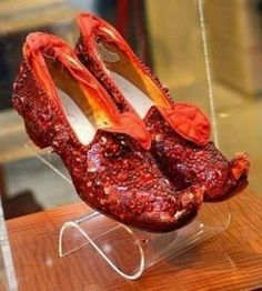 The Ruby Slippers from the House of Harry Winston